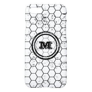 Black and white Honeycomb Monogram Pattern iPhone 8/7 Case
