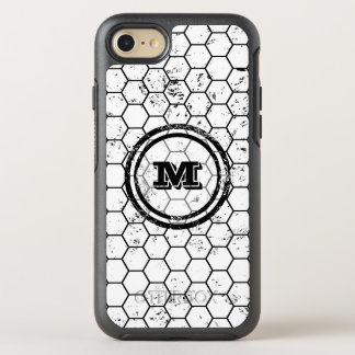 Black and white Honeycomb Monogram Pattern OtterBox Symmetry iPhone 8/7 Case