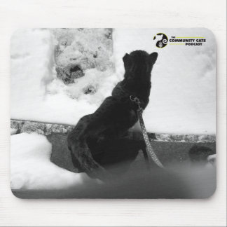 Black and White Hooch Mouse Pad