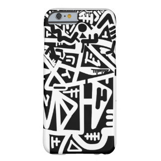 Black and white horizon face barely there iPhone 6 case