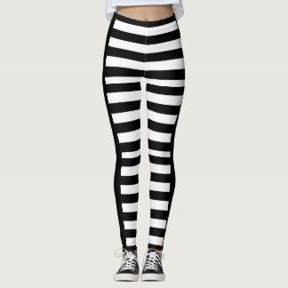 Black and White horizontal leggings