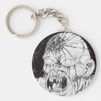Black And White Horror Art Keychains
