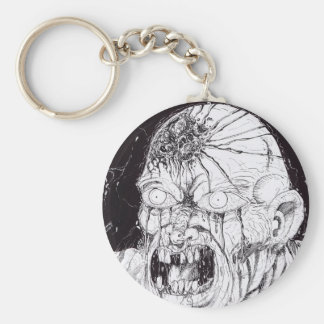 Black And White Horror Art Keychains