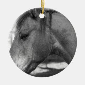 Black and white Horse ornament