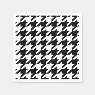 Black and White hounds tooth Paper Serviettes