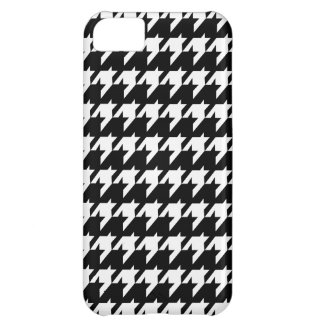 Black and white houndstooth iPhone 5C case
