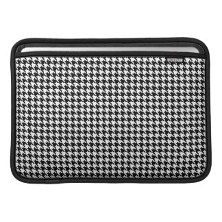 Black and White Houndstooth Macbook Air Sleeve