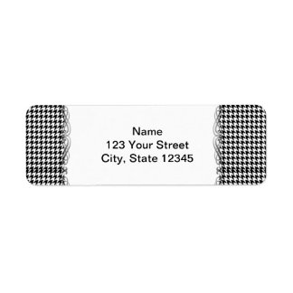 Black and White Houndstooth Manage this category Return Address Label