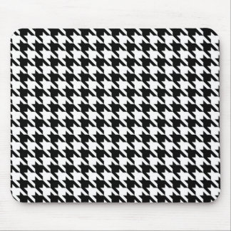 Black and White Houndstooth Mouse Mat