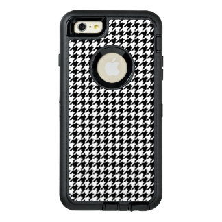 Black and White Houndstooth OtterBox Defender iPhone Case