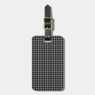Black And White Houndstooth Pattern Luggage Tag