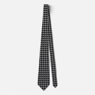 Black And White Houndstooth Pattern Tie