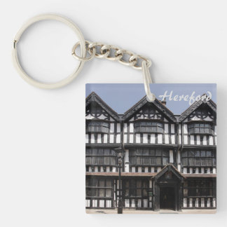 Black and White house in Hereford souvenir photo Key Ring