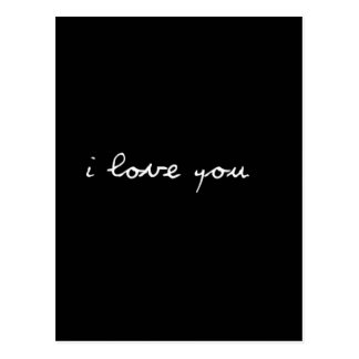 BLACK AND WHITE I LOVE YOU FEELINGS HAPPY RELATION POSTCARDS