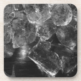 Black and White Ice Creative Photography Coaster