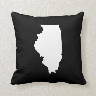 Black and White Illinois Cushion
