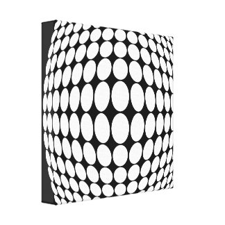 Black and white illusion canvas print
