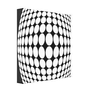 Black and white illusion canvas prints