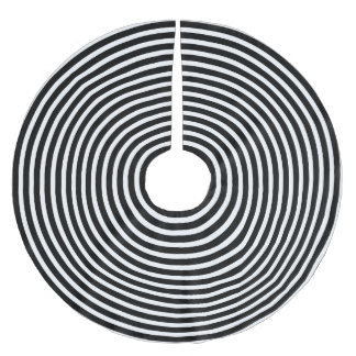 Black and White Illusion Circles Brushed Polyester Tree Skirt