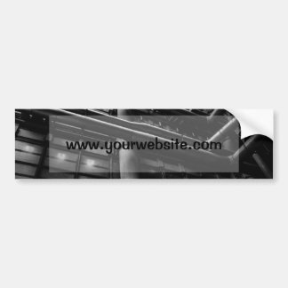 Black and White Industrial Pipes, Architecture Car Bumper Sticker