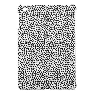 Black and White Ink Dots Pattern iPad Mini Covers