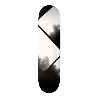 Black and White Ink Look Deck Customizable Skate Board