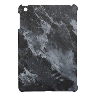 Black and White Ink on Black iPad Mini Cases