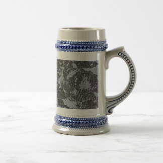 Black and White Ink on Purple Background Beer Stein