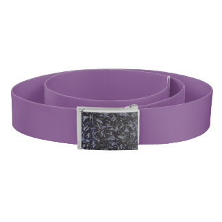 Black and White Ink on Purple Background Belt