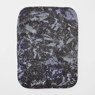 Black and White Ink on Purple Background Burp Cloth