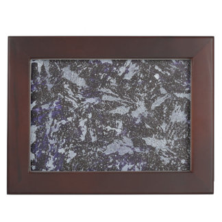 Black and White Ink on Purple Background Keepsake Box