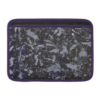 Black and White Ink on Purple Background Sleeve For MacBook Air