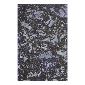 Black and White Ink on Purple Background Stationery