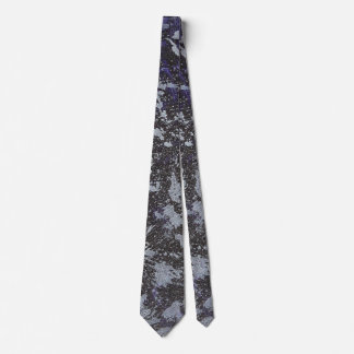 Black and White Ink on Purple Background Tie