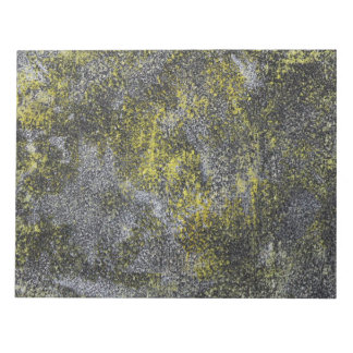 Black and White Ink on Yellow Background Notepad