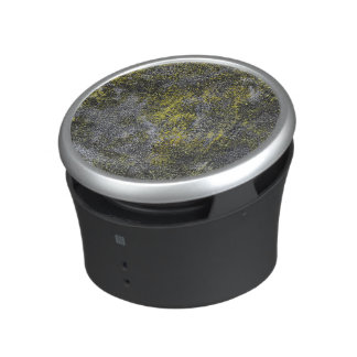 Black and White Ink on Yellow Background Speaker