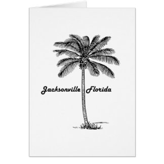 Black and White Jacksonville & Palm design Card