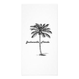 Black and White Jacksonville & Palm design Customized Photo Card