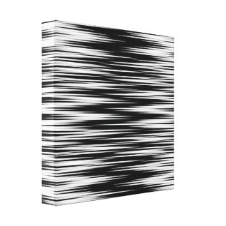 Black and White Jagged Zigzag Gallery Wrap Canvas
