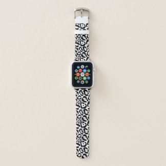 Black and White Jaguar Print Apple Watch Band