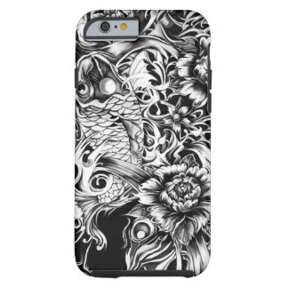 Black and white Japanese Koi tattoo art. Tough iPhone 6 Case