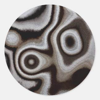 Black and white Jasper stone Classic Round Sticker
