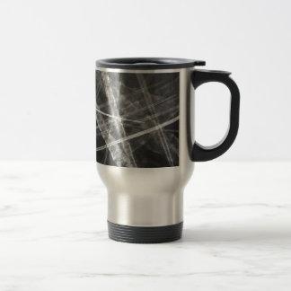 Black and white Jet Trails Travel Mug