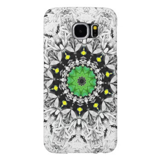 Black and White Kaleidoscope Samsung Galaxy S6 Cases