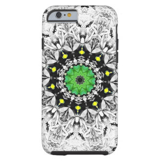 Black and White Kaleidoscope Tough iPhone 6 Case