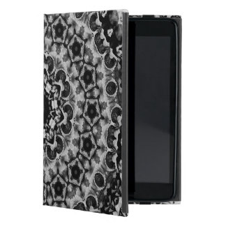 BLACK AND WHITE KALEIDOSCOPIC GEOMETRIC MANDALA COVERS FOR iPad MINI