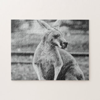 Black and White Kangaroo Puzzle