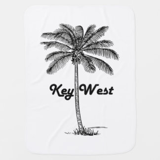 Black and White Key West Florida & Palm design Baby Blanket