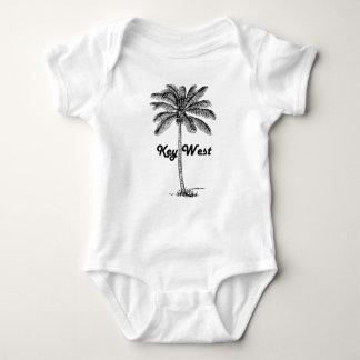 Black and White Key West Florida & Palm design Baby Bodysuit