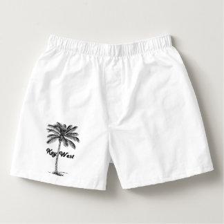 Black and White Key West Florida & Palm design Boxers